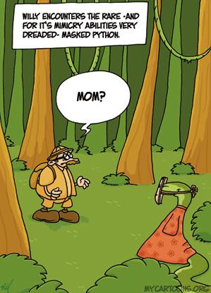 cartoon  2008 03 21 mask python