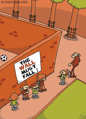 cartoon  2008 10 07 fall of the wall