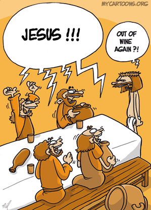 cartoon  2009 04 13 jesus party