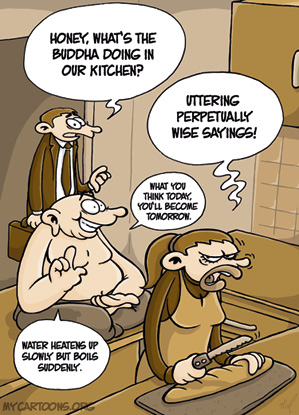 cartoon  2009 04 29 kitchen philosophy