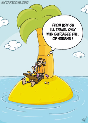cartoon  2009 08 02 island money